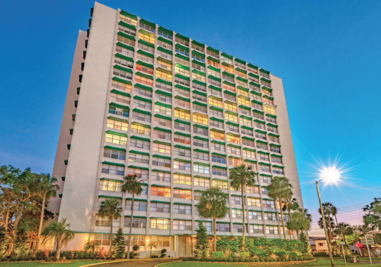 208 unit residential building in downtown Clearwater Florida Tampa Bay Area